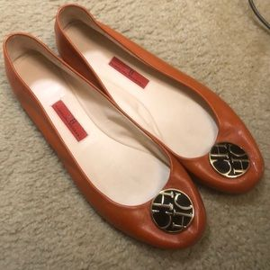 Carolina Herrera leather flats